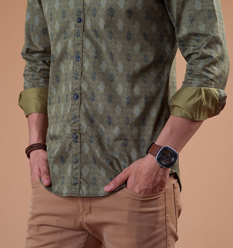 Buy The Great Bath - Olive shirt online