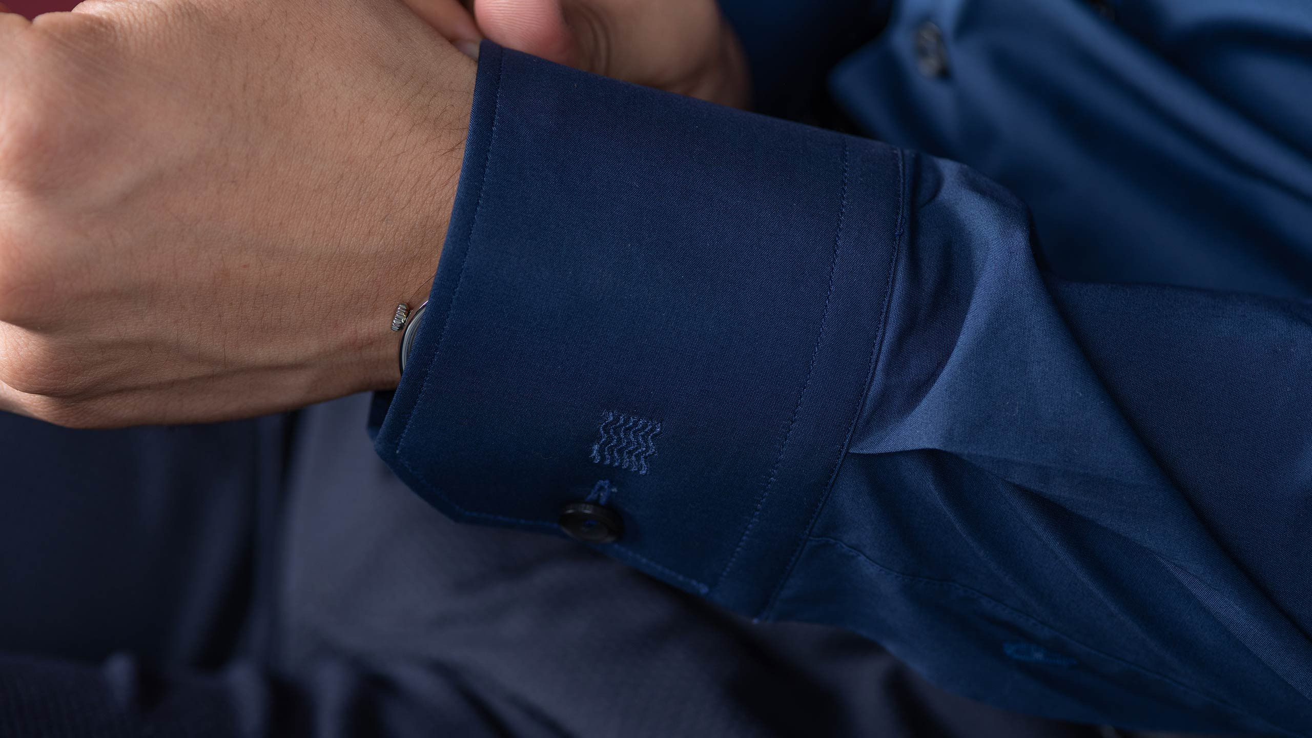 Buy Navy Stretch shirt online