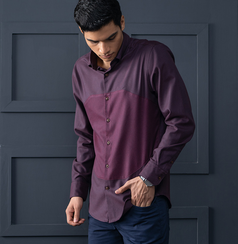 Back To Burgundy Branded Designer Shirts for Men