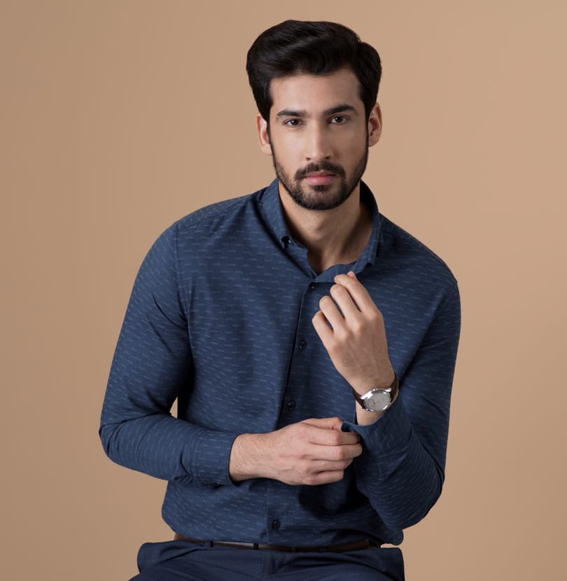 Blue Molecule Branded Designer Shirts for Men