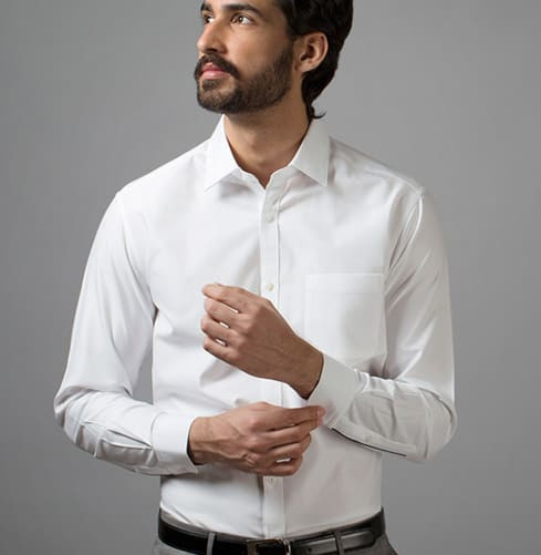 ESSENTIAL WHITE SHIRT Branded Designer Shirts for Men