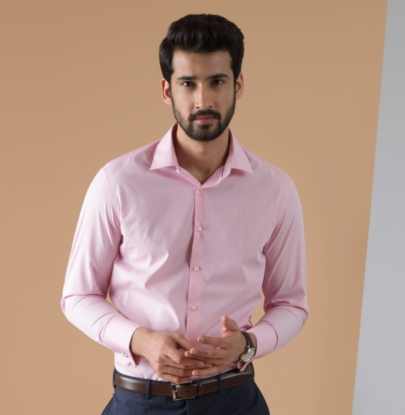 Experiment Pink Branded Designer Shirts for Men