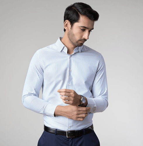 Golden Stripe Branded Designer Shirts for Men