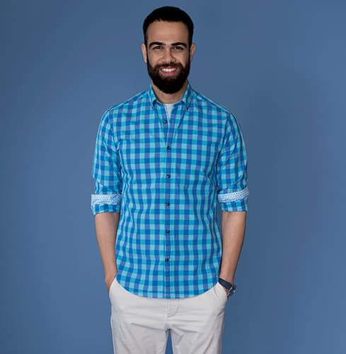 Lightweight Aqua Branded Designer Shirts for Men