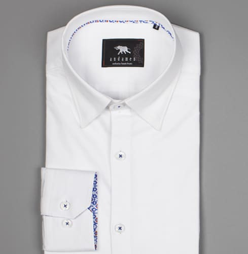 White Cham Dance Branded Designer Shirts for Men