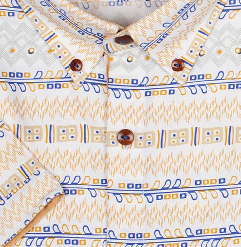 Pabuji Retro Print Branded Designer Shirts for Men