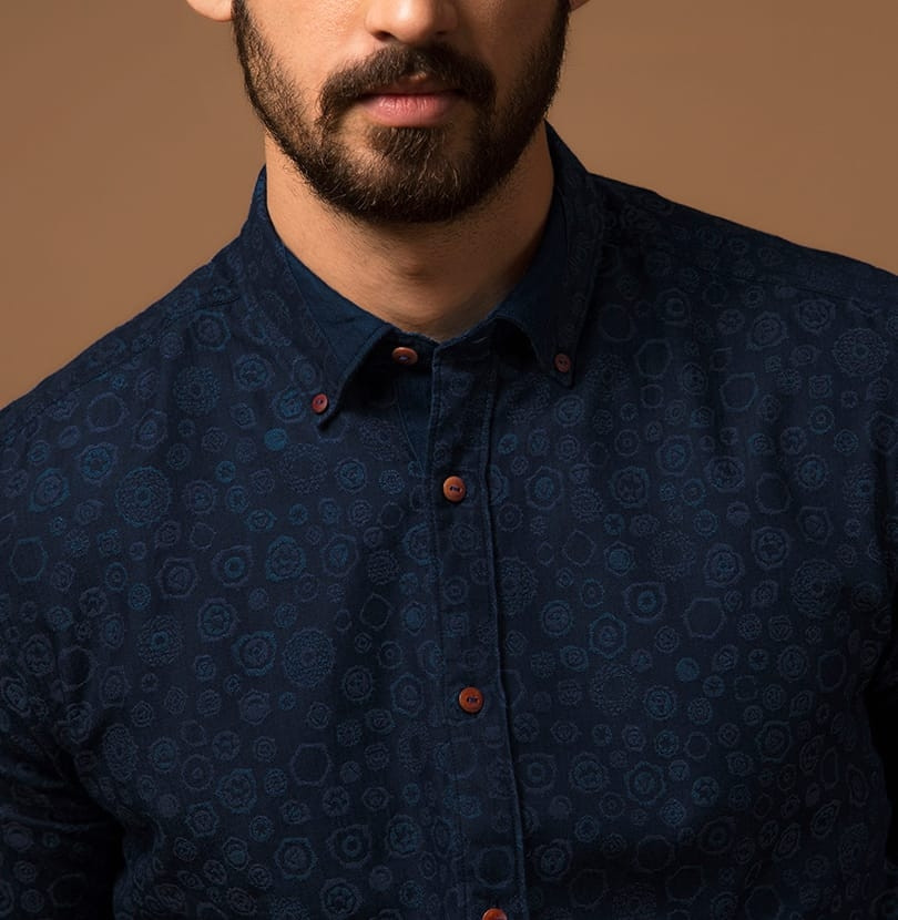 Seven Chakras Jacquard  Branded Designer Shirts for Men