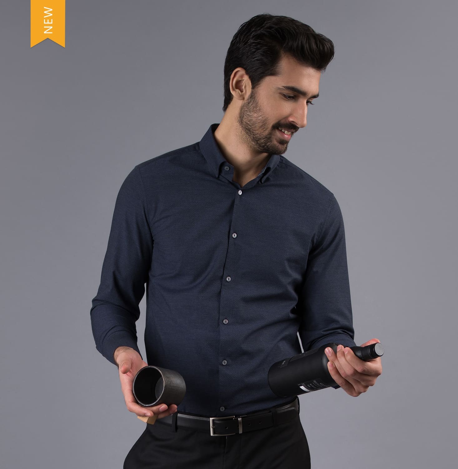Navy Dot Branded Designer Shirts for Men