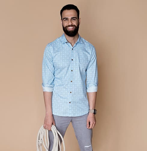Blue Slate Branded Designer Shirts for Men