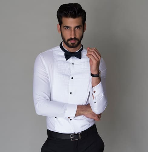 White Tux Branded Designer Shirts for Men
