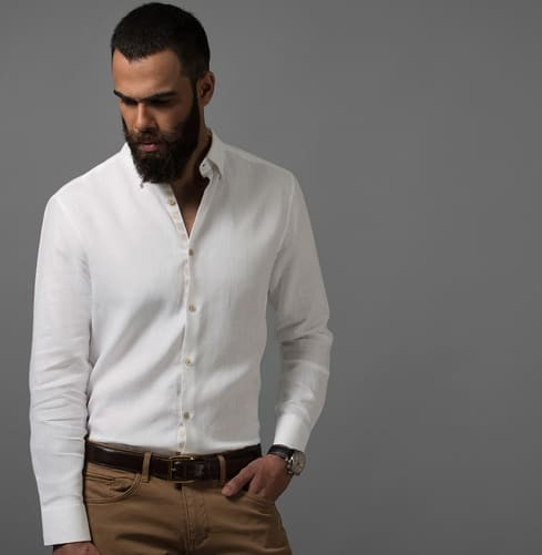 Linen Camel Art Branded Designer Shirts for Men