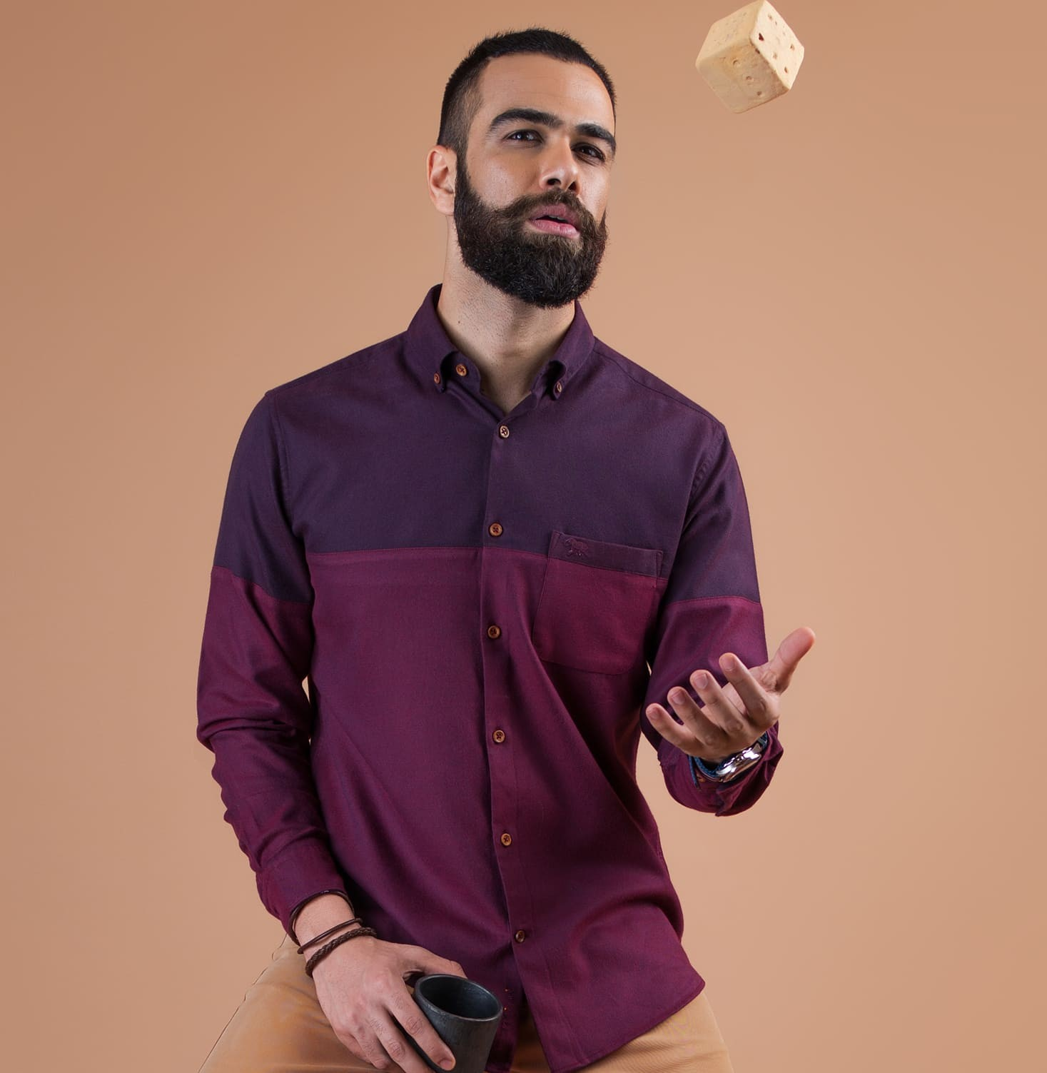 Hues of Burgundy Branded Designer Shirts for Men