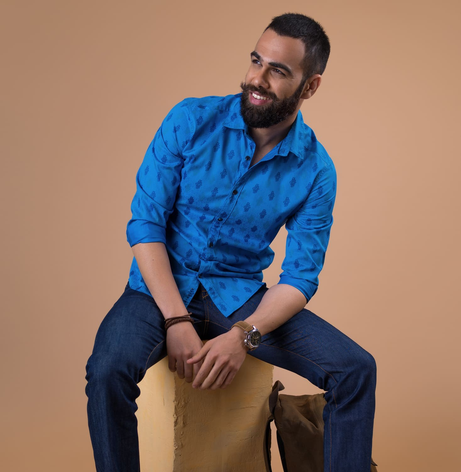 The Great Bath - Blue Branded Designer Shirts for Men