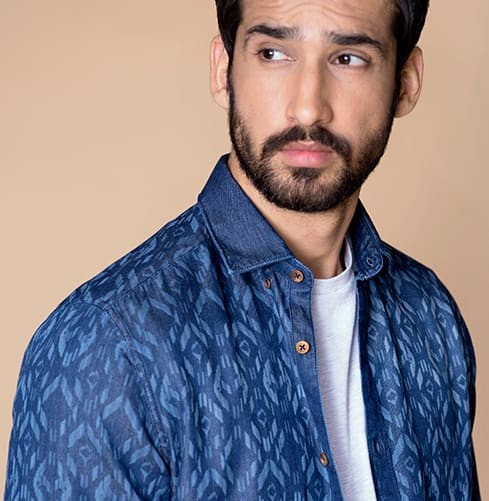 Indian Jean Branded Designer Shirts for Men