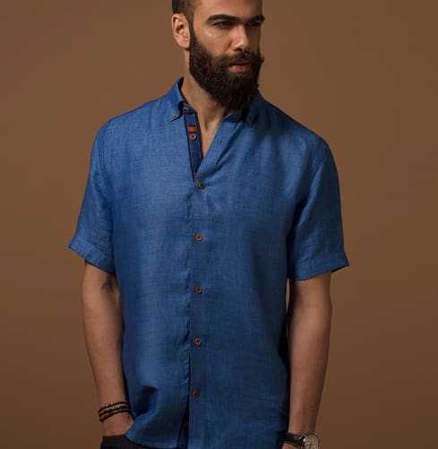 Embroidered Camel Art Branded Designer Shirts for Men