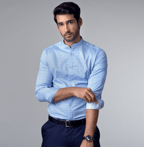 Nehru Endless Knot Branded Designer Shirts for Men