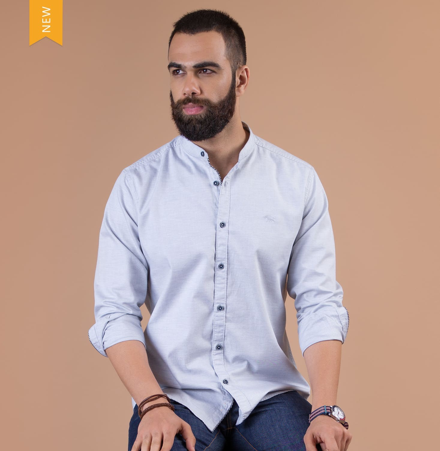 Rajan Grey Branded Designer Shirts for Men