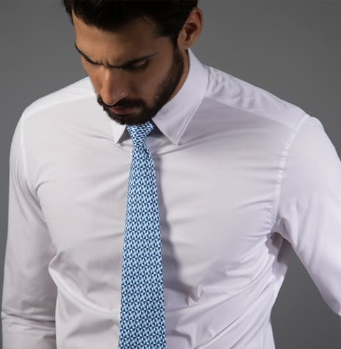 Essential White Shirt - Plain Branded Designer Shirts for Men